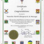 2015 Waterloo Chronicle Reader's Choice Awards - Platinum Winner, Best Chiropractic Clinic and Diamond Winner, Best Massage Clinic